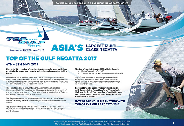 Top of the Gulf Regatta - Sponsorship Opportunities